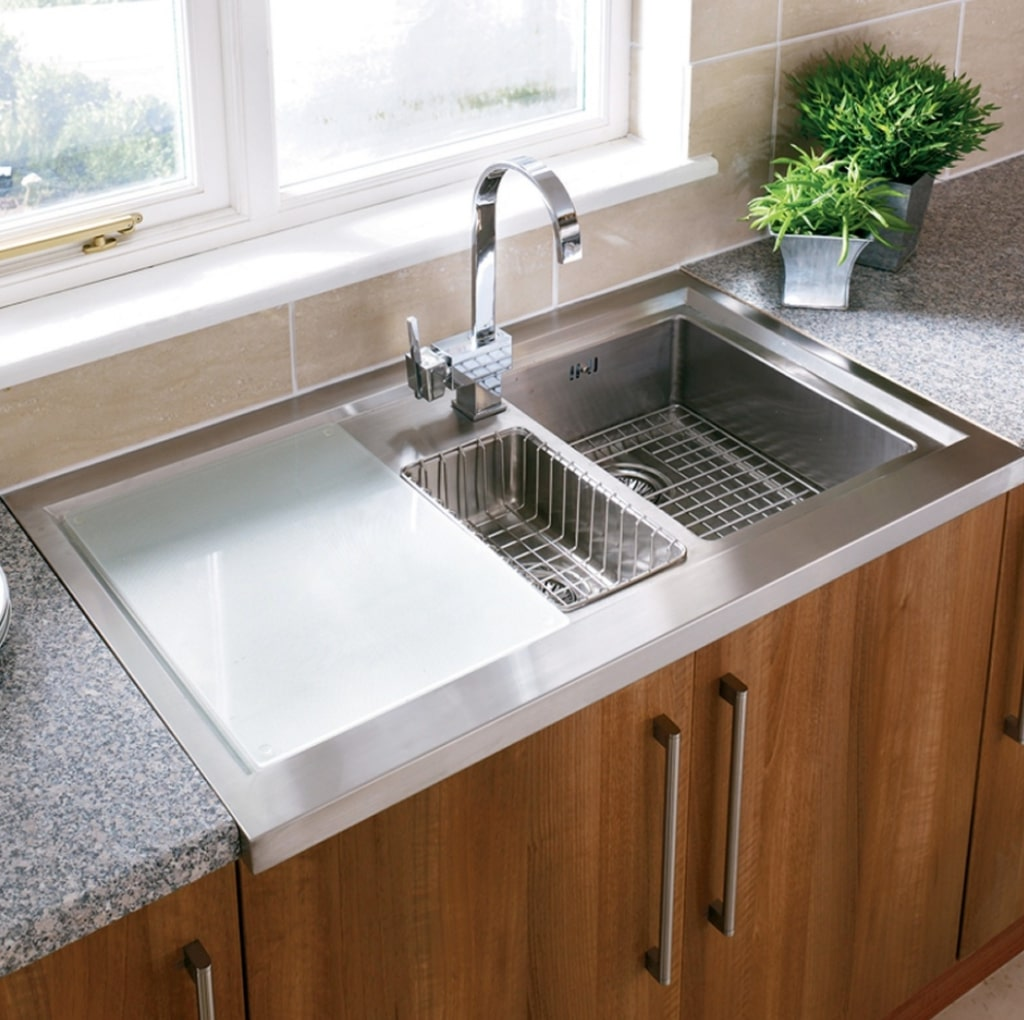 Learn how to clean your stainless steel kitchen sink and drain