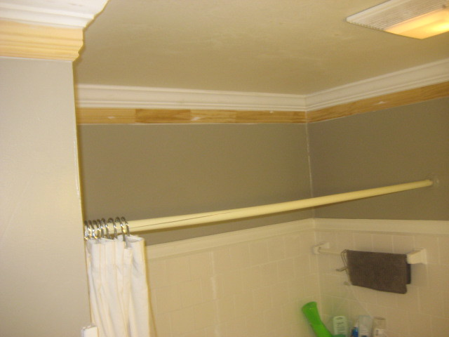 bathroom ceiling after cleaning mold